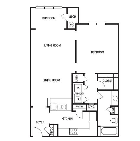 STUDIO (S2) Floor Plan 3