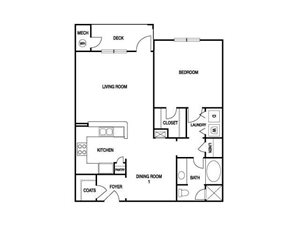ONE BEDROOM- ONE BATH (A5)