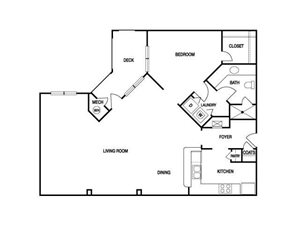 ONE BEDROOM- ONE BATH (A6)