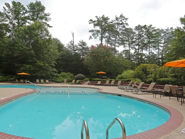 Pool Side Relaxing Area at The Views at Jacks Creek, Snellville, 30039