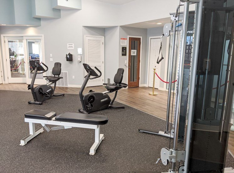 fitness center at Country Club Apartments