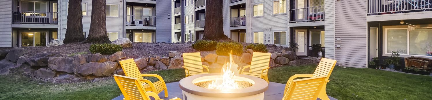 Arterra Apartments Outdoor Fire Pit and Seating Area