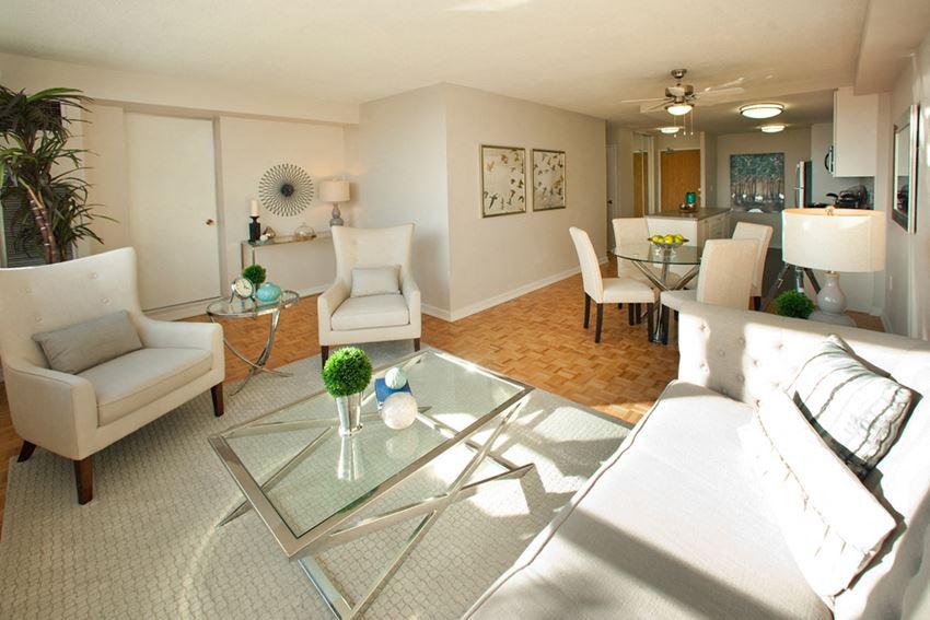 190 Cityview in Brampton, ON living room with hard wood flooring