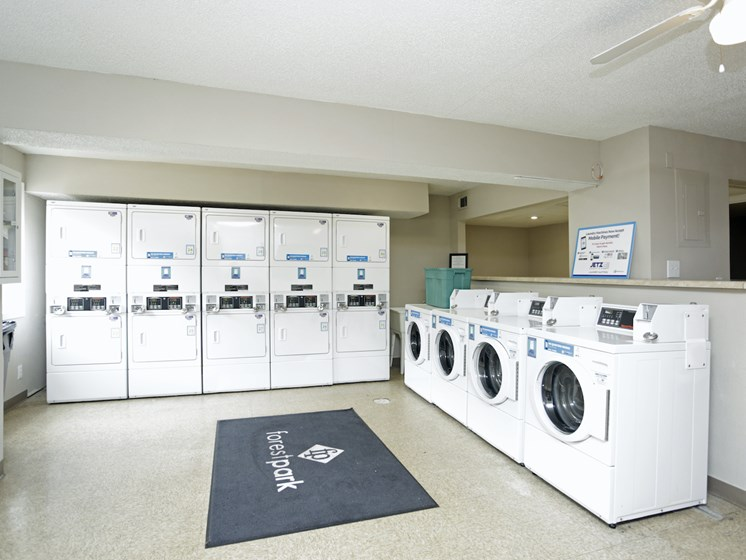 Updated community laundry facility at Forest Park Apartments in North Kansas City, MO