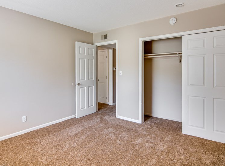 Large closet and bedroom at Forest Park In Kansas City, MO