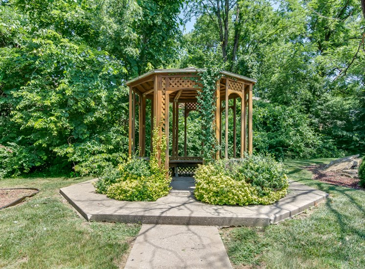 Outdoor gazebo at Forest Park In Kansas City, MO and in North Kansas City, MO