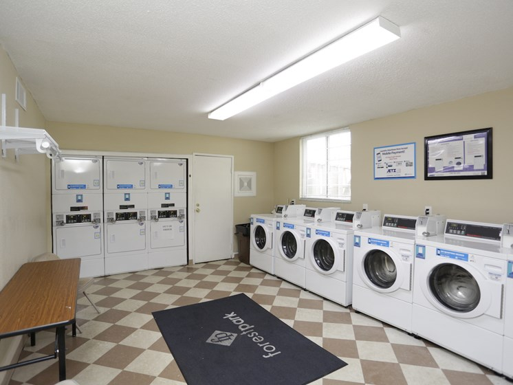 Resident Laundry Facility at Forest Park Apartments in North Kansas City, MO