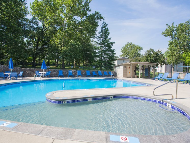 Wading and deep end pool at Forest Park Apartments in North Kansas City, MO