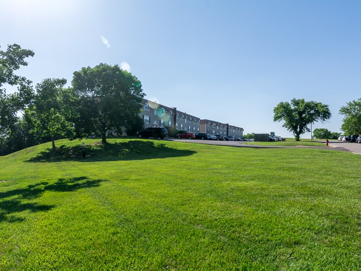 Valleys and hills at Regency North Apartments in North Kansas City, MO