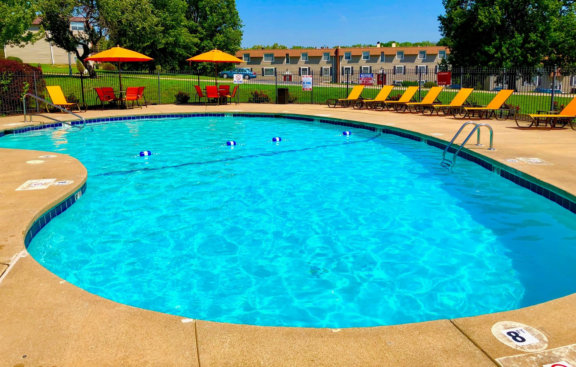 Outdoor seasonal pool at Regency North Apartments in North Kansas City, MO
