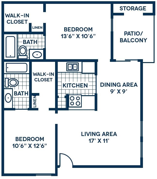 Floor Plan | The Park at Elland Apartments in Clearwater, Fl