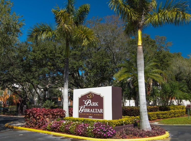 Property Sign | The Park at Gibraltar Apartments Clearwater Tampa, Fl