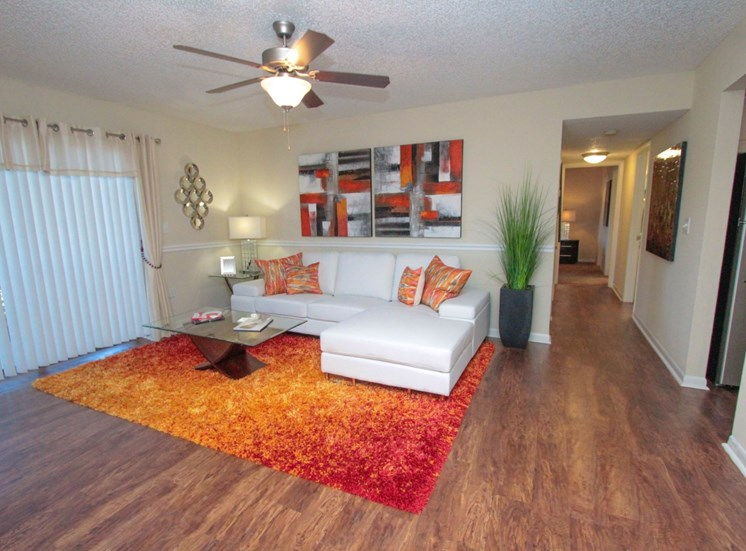 Living Room | The Park at Gibraltar Apartments Clearwater Tampa, Fl