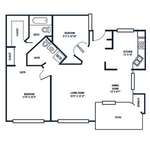 Floor Plan   The Park at Gibraltar Apartments Clearwater Tampa, Fl