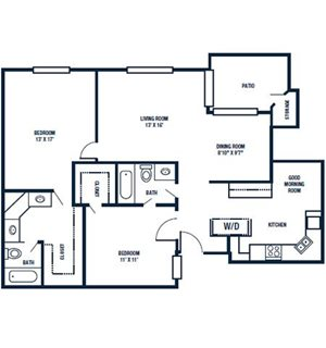 Floor Plan | The Park at Gibraltar Apartments Clearwater Tampa, Fl