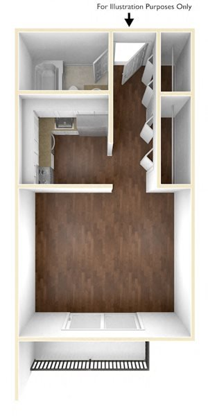 Studio floor plan at Stratton Hill Park Apartments in Worcester, MA