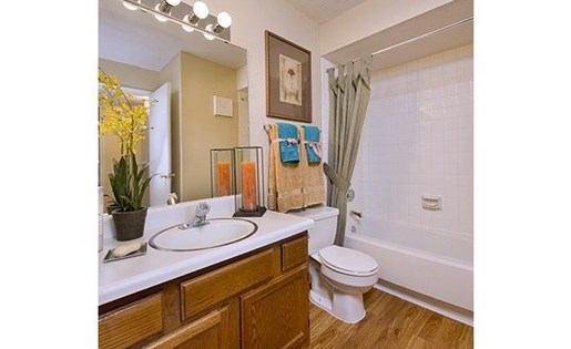 Large Soaking Tub In Master Bathroom with A Tile Surround at Foundations at Austin, Colony 1800 Austin Parkway, TX
