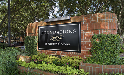 Gated Entrance at Foundations at Austin, Sugar Land, TX 77479