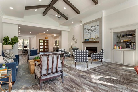 Regency at First Colony | Clubhouse with Fireplace