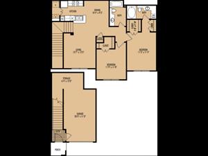 Regency at First Colony  B4 Floor Plan 2 Bedroom 2 Bath