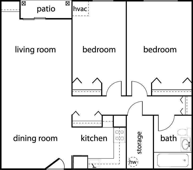 Two-Bedroom Floor Plan 2
