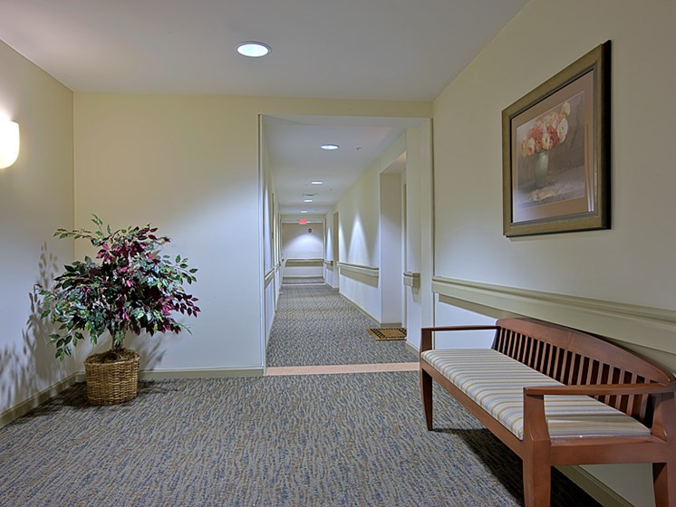 Welcome home hallway affordable senior apartments