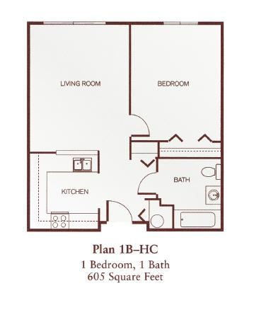 One-Bedroom- 1B