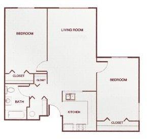 Two-Bedroom A Floor Plan 2