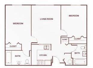 Two-Bedroom E Floor Plan 3