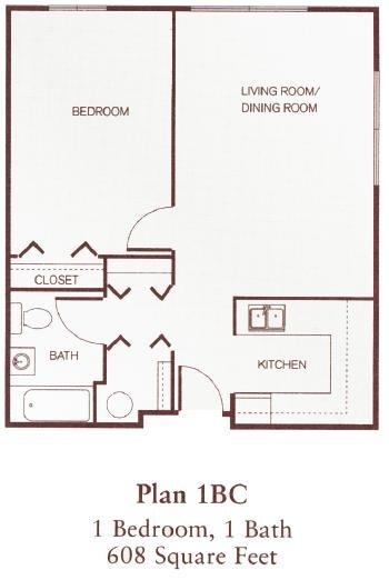One-Bedroom Floor Plan 1