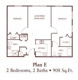 Two-Bedroom Floor Plan 2