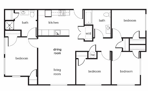 Four-Bedroom Floor Plan 4