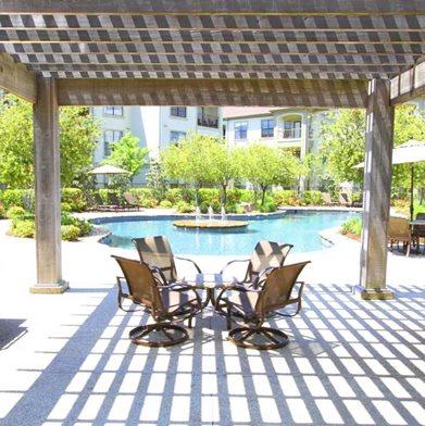 Poolside Cabanas at The Enclave at Cedar Lodge Apartments in Baton Rouge, Louisiana, LA