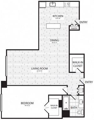 1 Bedroom, 1 Bath - A6 - Renovated