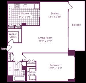 1 Bedroom, 1 Bath - A13
