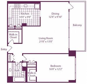 1 Bedroom, 1 Bath - A13 - Renovated