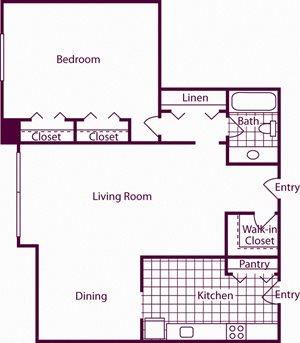 1 Bedroom, 1 Bath - A7 - Renovated