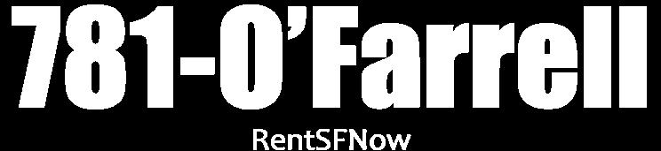 781 O'FARRELL Apartments Property Logo 1
