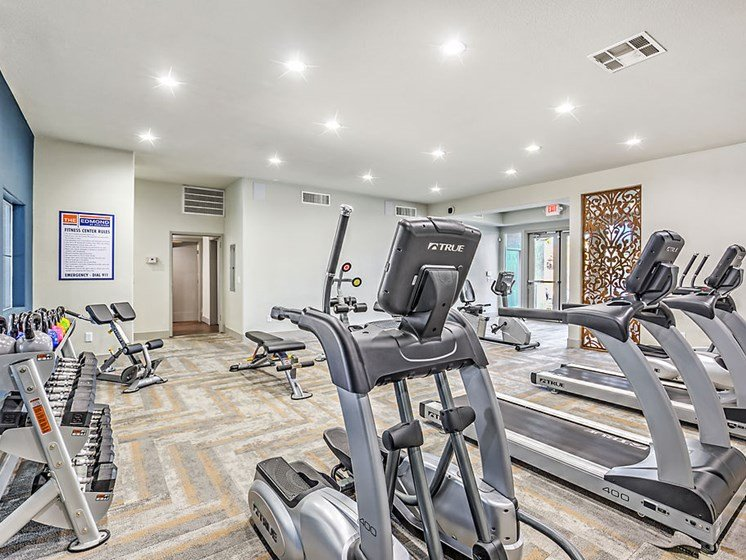 Apartments for Rent in Las Vegas Nevada - The Edmond at Hacienda Fitness Center With Cardio Machines and Free Weights