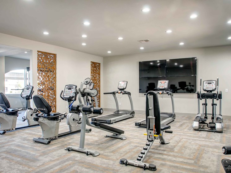 Las Vegas Nevada Apartments - The Edmond at Hacienda Apartments Fitness Room