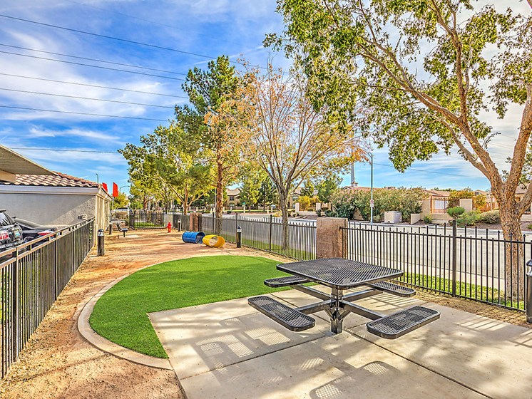 Pet Friendly Apartments in Las Vegas Nevada - The Edmond at Hacienda Apartments Dog Park