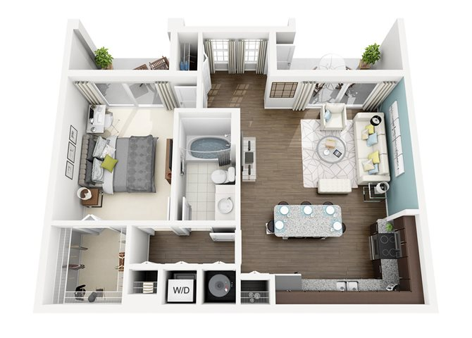 Floor plan at Altis Sand Lake, Florida