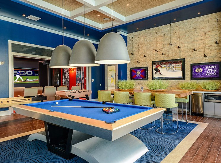 Billiards Game Room at Altis Sand Lake, Florida