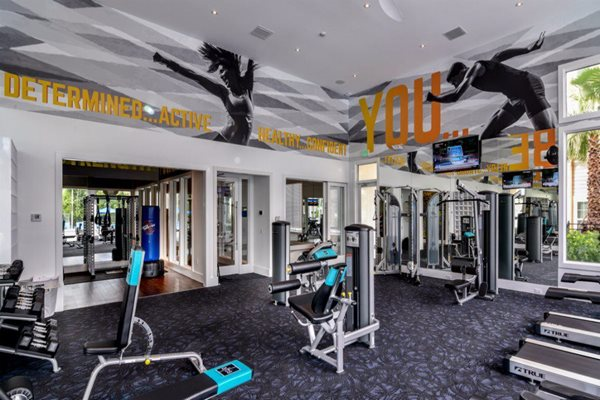Fitness Center  with Cardio and Spin Studio and More at Altis Sand Lake, Orlando