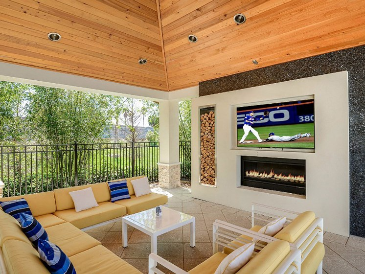Resident Lounge with Fireplace at Altis Sand Lake, Orlando, FL