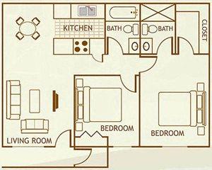2 Bedroom / 2 Bathroom