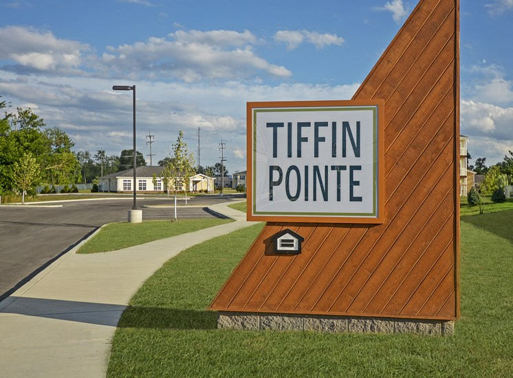 Entrance Sign at Tiffin Pointe, Ohio, 44883