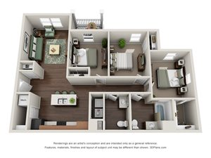 Floor plan at Tiffin Pointe, Tiffin, Ohio