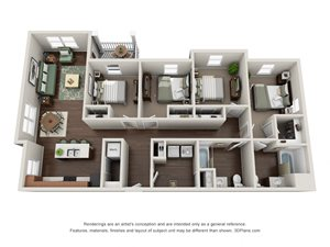 Floor plan at Tiffin Pointe, Tiffin