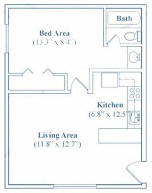 1 Bedroom / 1 Bathroom (Deluxe)